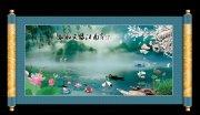江南山仙境水风景画