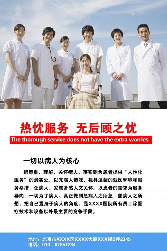 【psd】医院展板图片