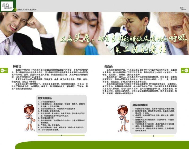 耳鼻喉画册模板
