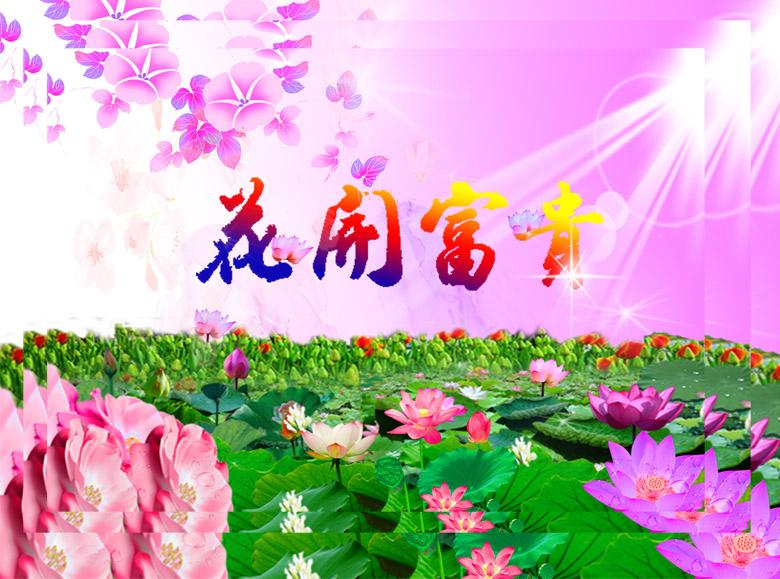 自然风景  关键词: 花开富贵 花 花朵 花草 风景 荷花 荷花图 花纹