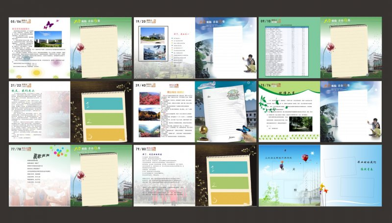 首页 矢量专区 广告设计 画册版式  广告公司画册 毕业纪念册 同学