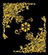 歐式花紋PSD分層設計