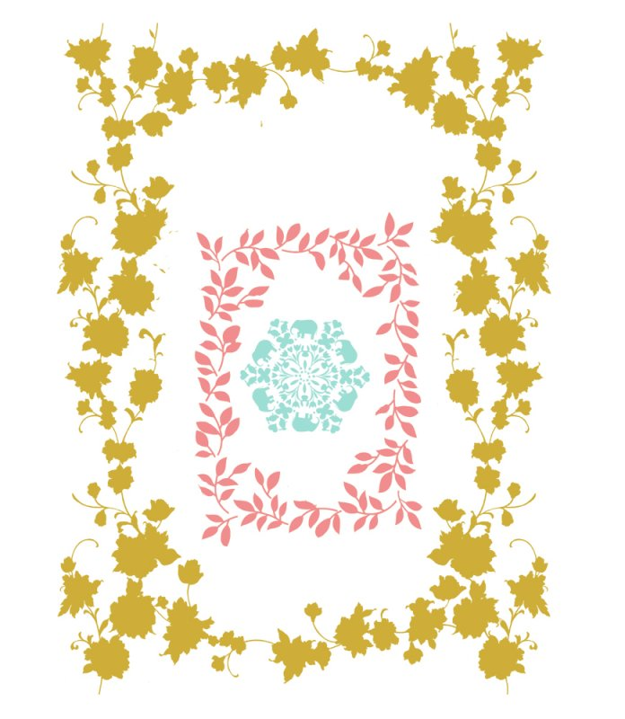 【psd】花纹花框设计
