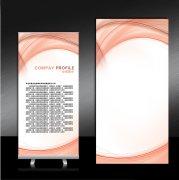 x展架设计易拉宝模板展板背景图片下载