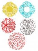 团花花纹设计素材