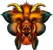 龍頭怪獸PSD圖案