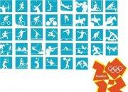 2012年伦敦奥运会运动图标 蓝色背景运动图片