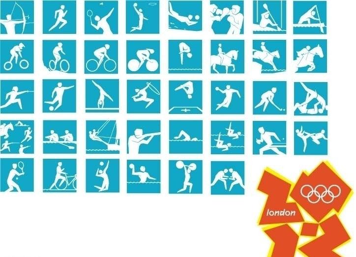 【ai】2012年伦敦奥运会运动图标