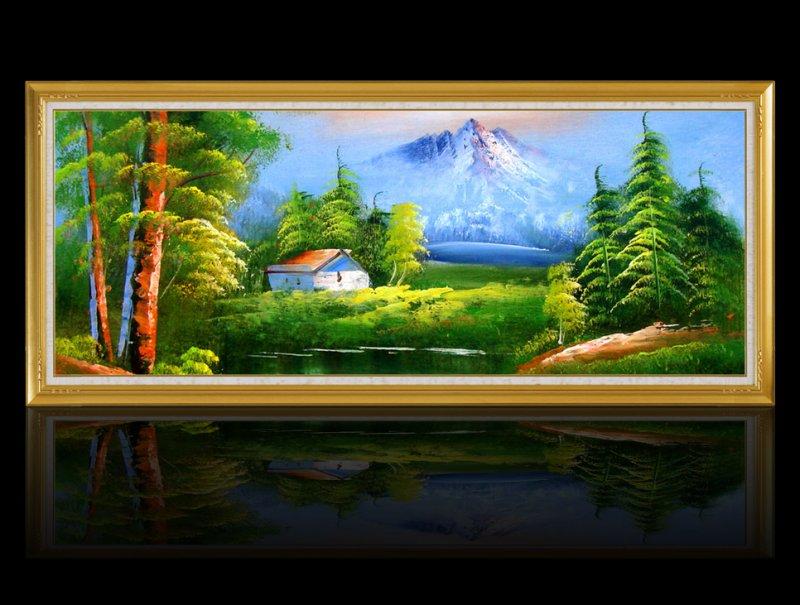 【psd】风景油画