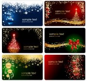 圣诞节主题卡片 矢量圣诞花纹素