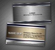 金属质感名片模板设计