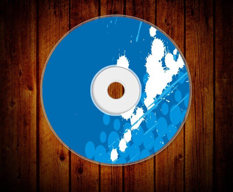 【cdr】光盘封面