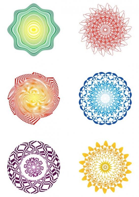 【cdr】珊瑚彩幻证书-防伪花纹
