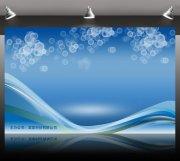 藍色海報背景 夢幻背景海報 海報設計