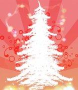 粉色背景圣诞树.