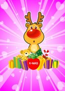圣诞小鹿礼品素材