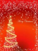 闪光圣诞树素材