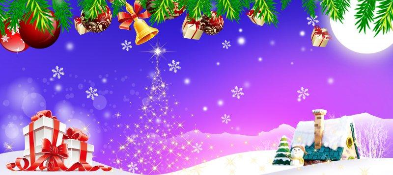 【psd】圣诞节促销广告背景设计