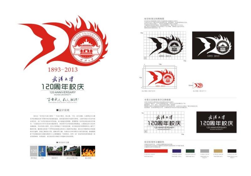 【cdr】武汉大学120周年校庆logo