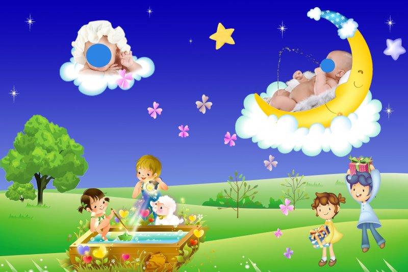 儿童艺术照模板_儿童艺术照模板ps素材