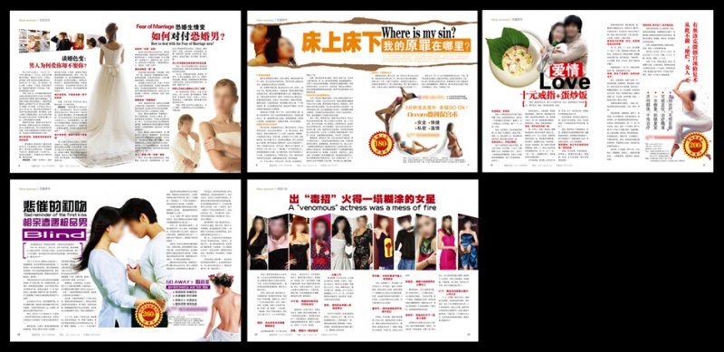 【eps】医院dm杂志版式图片