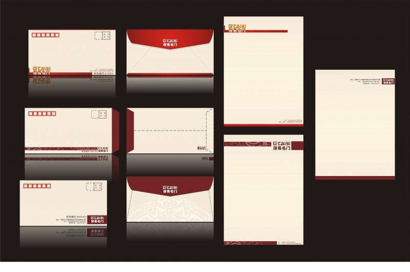 【cdr】信纸信封模板 cdr素材图库资源