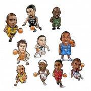 NBA球星手绘 PSD分层资源下载