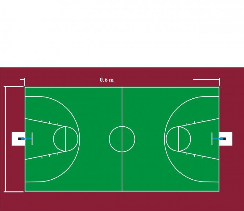 【cdr】篮球场