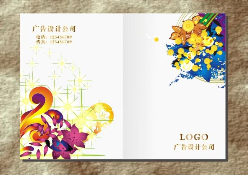 【cdr】奢华金星花朵-封面设计图片