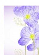 精美蓝紫色鲜花矢量素材