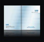 CDR蓝色科技画册封面设计