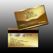 高档尊贵vip会员卡模板下载
