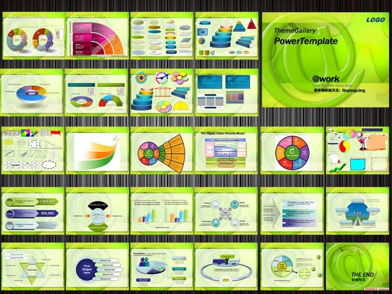 清新绿色 教育 培训 环保ppt模版