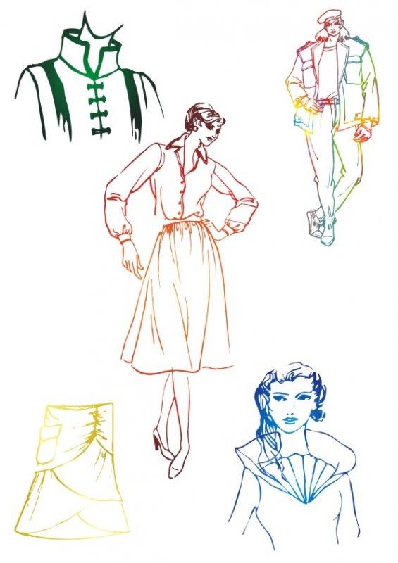 包裝設計 服飾包裝  上衣 簡筆畫 手繪畫 服裝草圖 線條畫 簡約時尚