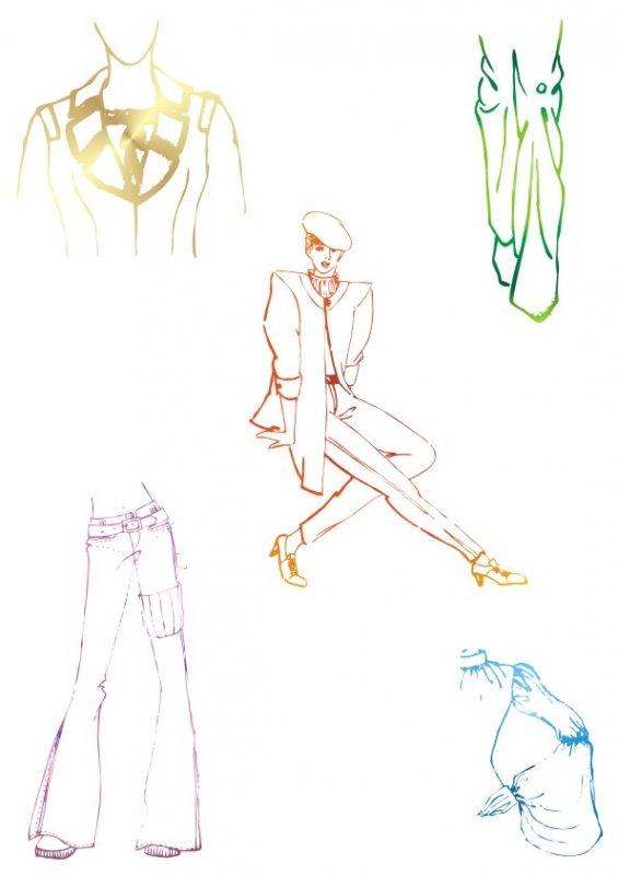 服装设计图鞋子简笔画展示