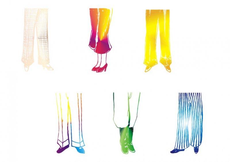【cdr】时尚裤子-服装简笔画