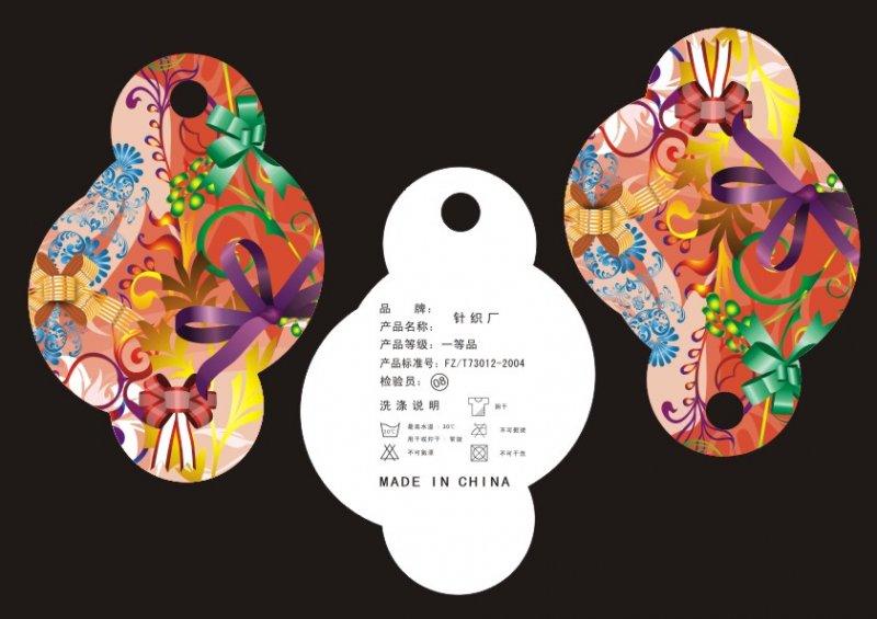 【cdr】蝴蝶结云朵-服装吊牌