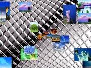 动态PPT 图片由中心向四周发散立体效果展示