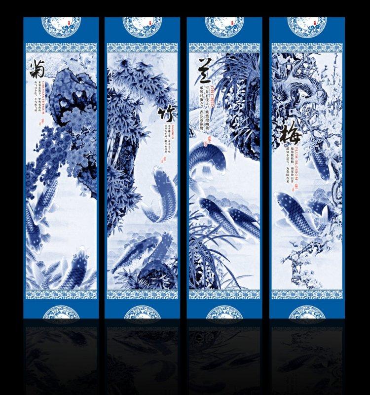 梅兰竹菊移门 上一张图片:   喜鹊报春无框画 下一张图片:江山如画