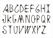 英文字体箭头艺术字