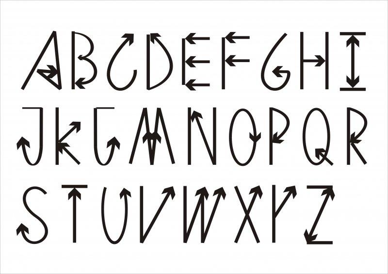 【cdr】英文字体箭头艺术字_图片编号:_智图网_www.