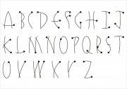 英文字体圆点艺术字