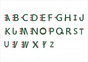 英文字体兽牙艺术字
