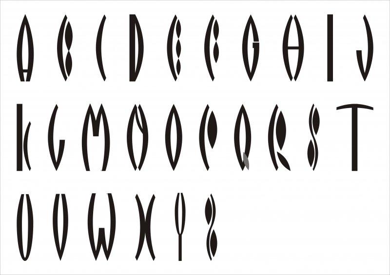 【cdr】英文字体郁金香花形艺术字_图片编号:_智图网