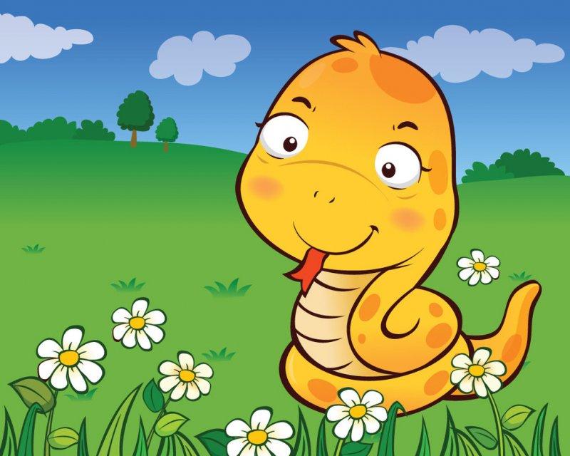 小花蛇图片 可爱