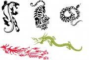 各种剪纸蛇