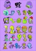 各种卡通蛇