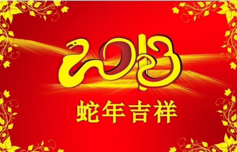 蛇年吉祥 新春快乐展板 2013蛇年大吉 创意模板