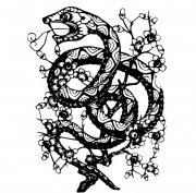 剪纸花纹蛇