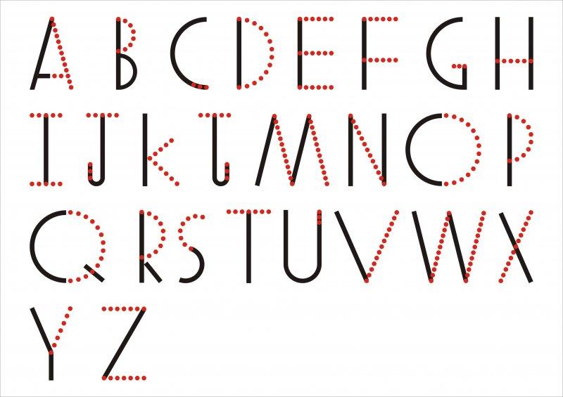 【cdr】英文字体艺术点纹字_图片编号:_智图网_www.